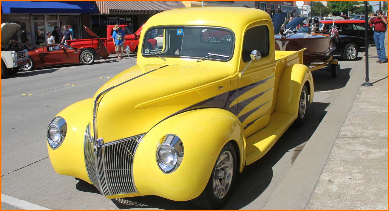 Yellow Pickup Truck